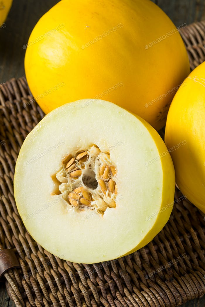 Raw Organic Yellow Honedew Melon