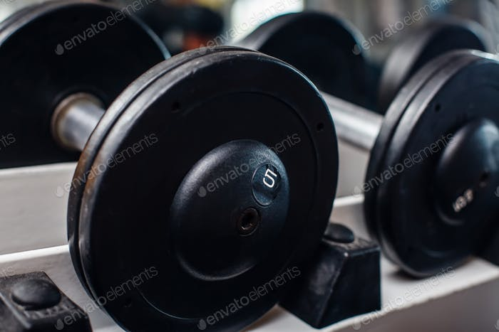 Heap of dumbbells