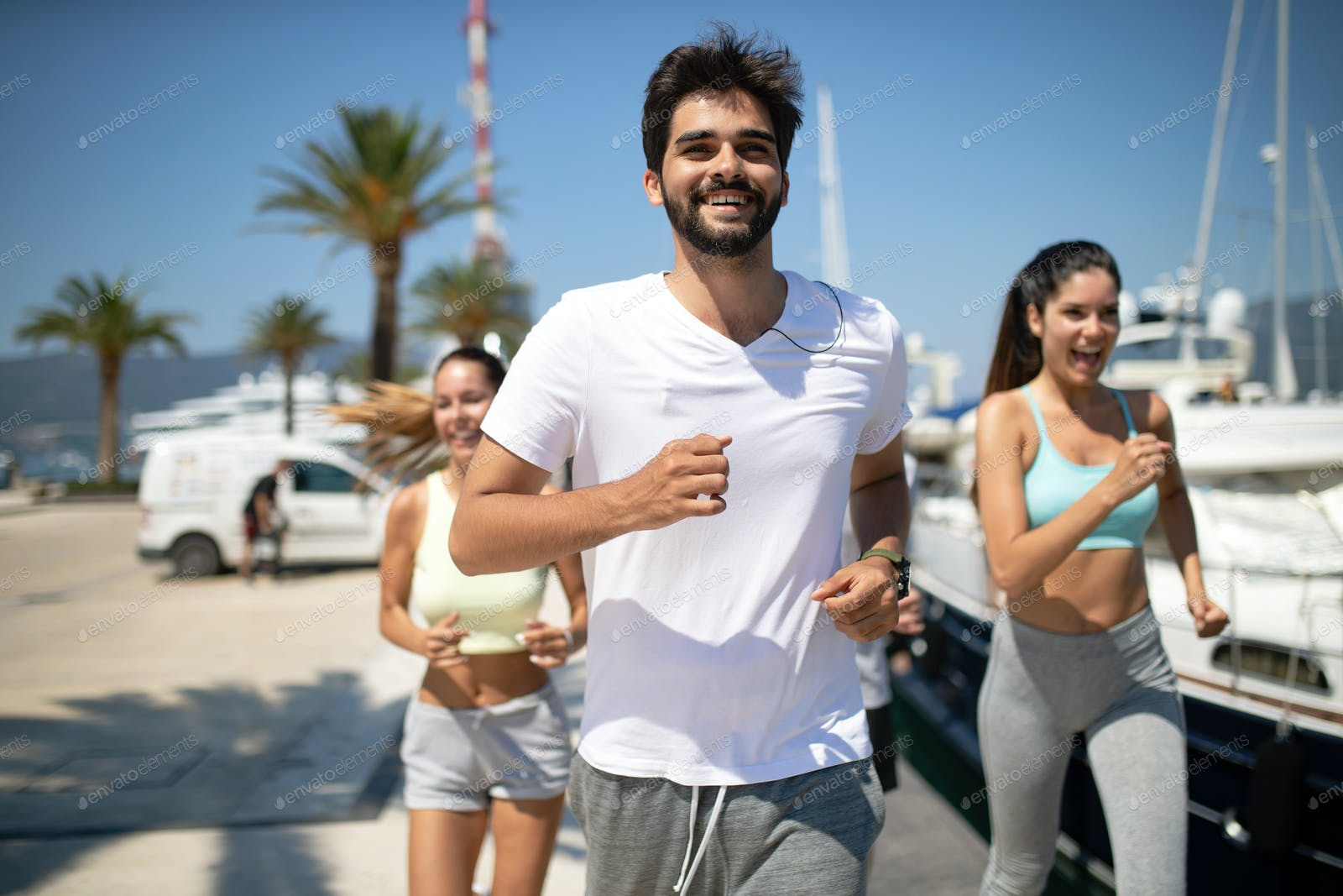 Running Friends Sport Exercising And Healthy Lifestyle