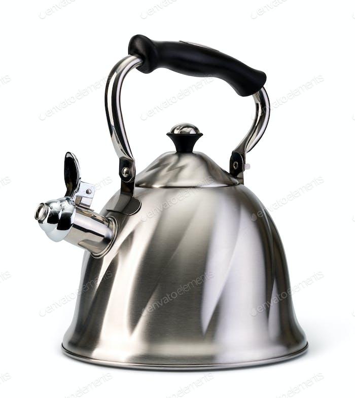 Steel whistling kettle