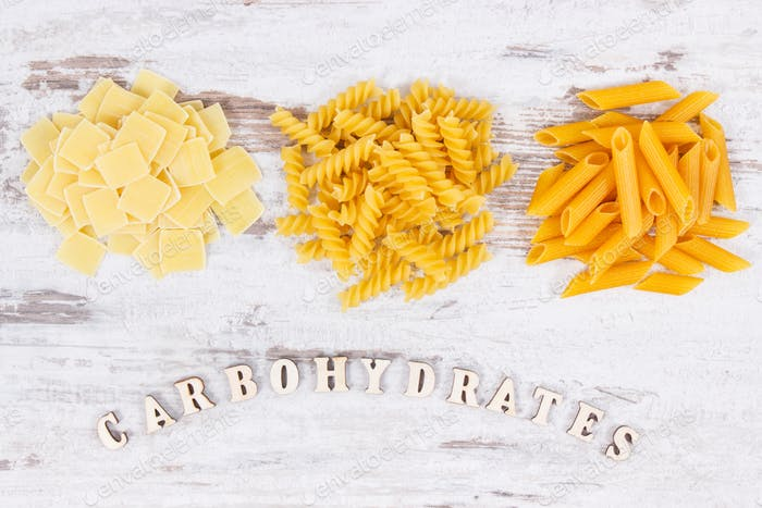 Inscription carbohydrates and various mix pasta as source fiber