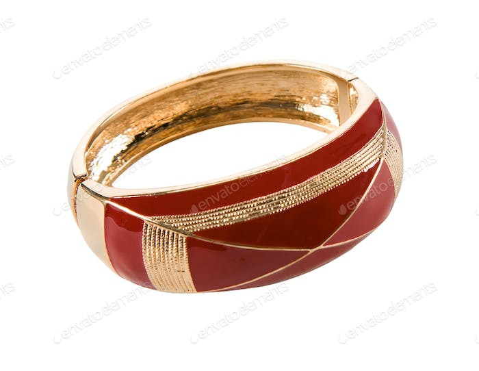 Maroon and gold classic bangle
