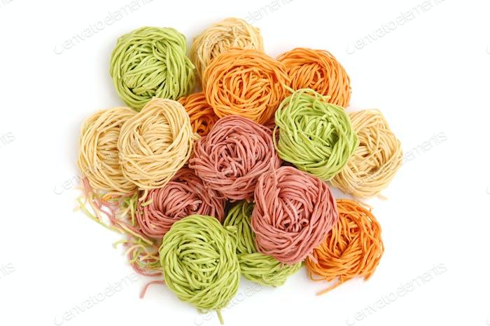Multicolored pasta