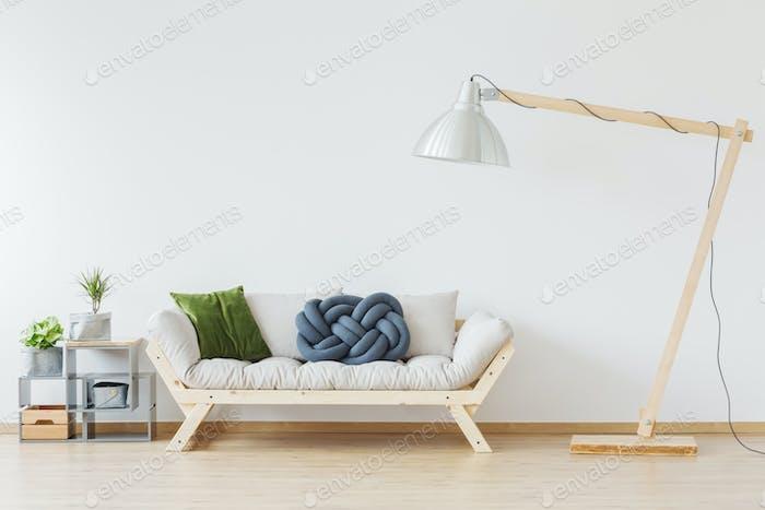 Wooden stylish sofa