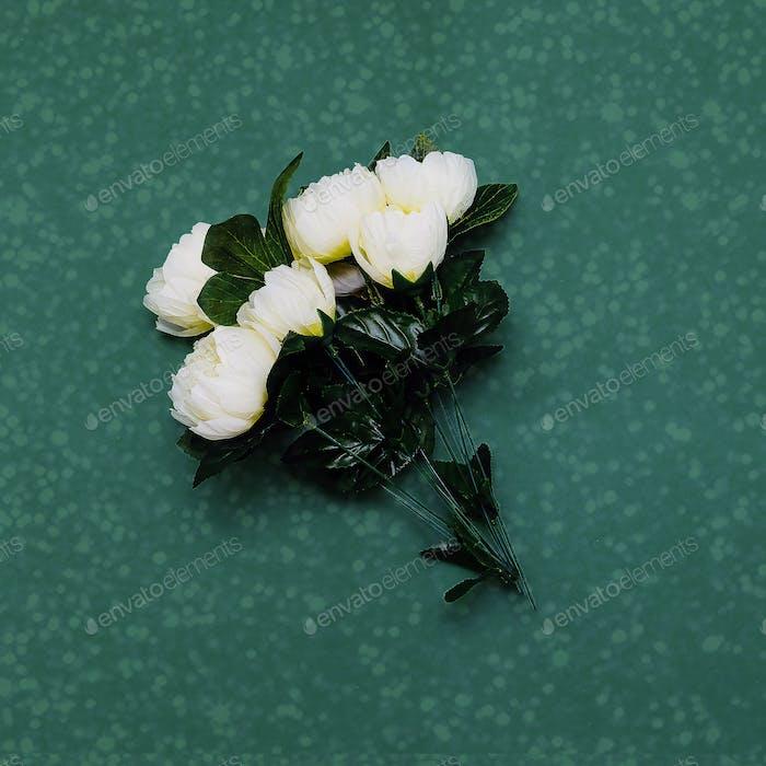 bouquet of plastic roses. Minimal art