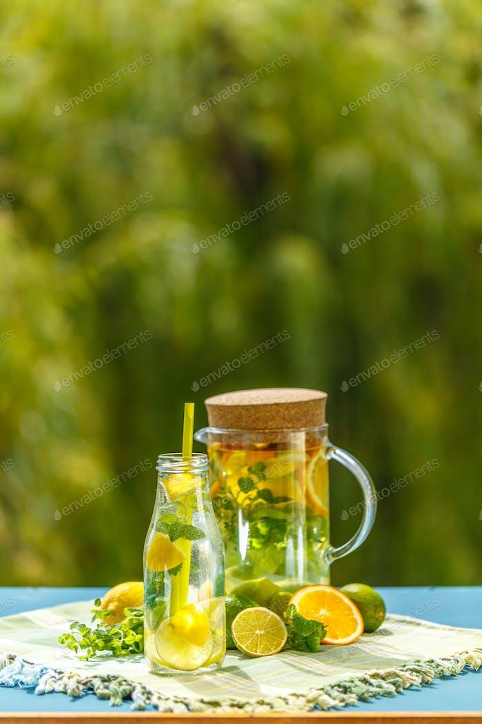 Refreshing summer detox cocktail