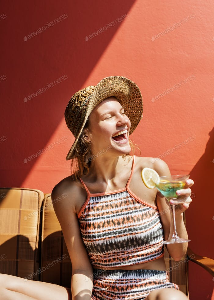 Young woman relaxing in the sun