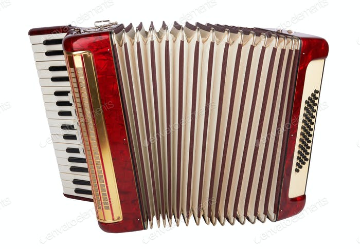 Retro-Akkordeon isoliert