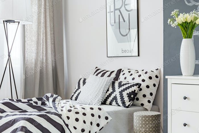 Double bed in elegant room