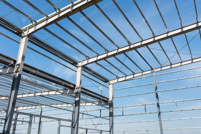 steel frame building closeup