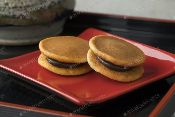 Japanese Dorayaki close up