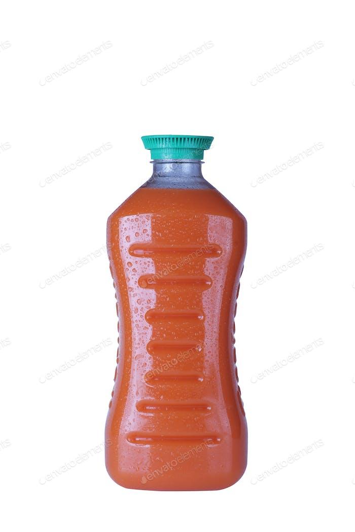 Juice Plastic Bottle Isolated