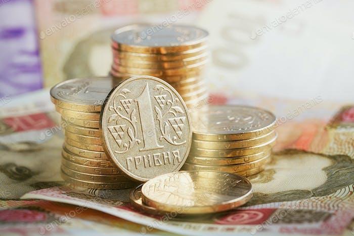 Financial Background with Ukrainian Money