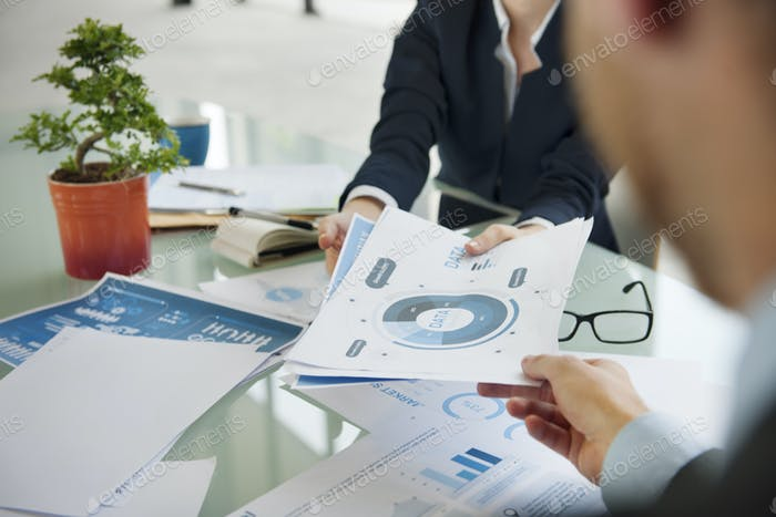 Business People Meeting Data Analysis Planning Concept