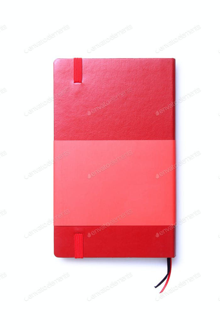 Red Notebook Isolated Top View