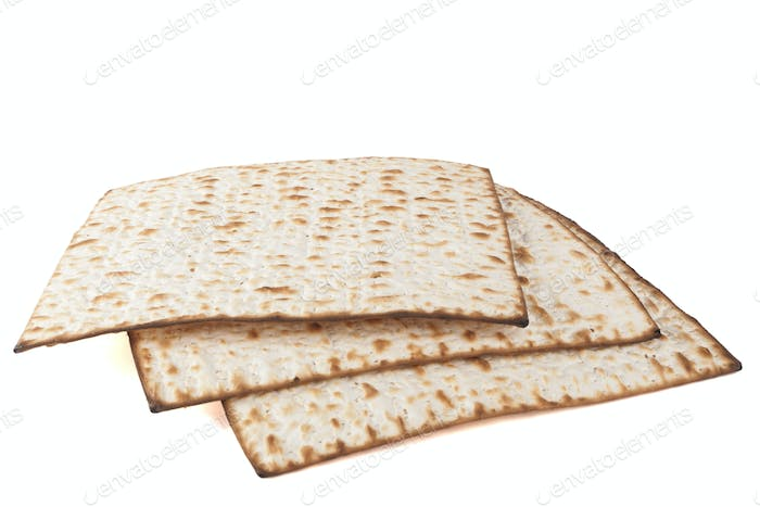 Three Matzot Isolated