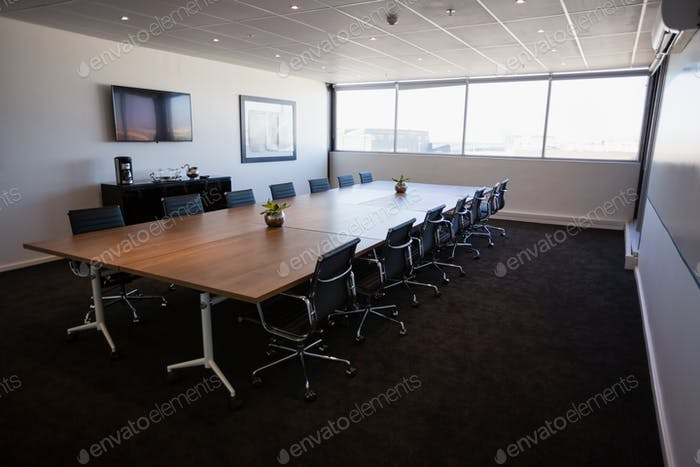 Interior of empty modern meeting room