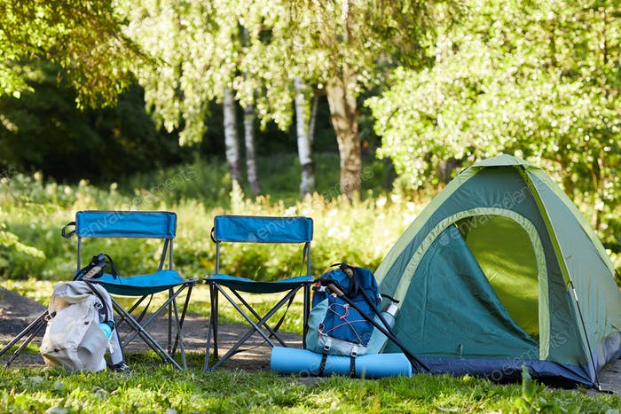 Campsite with Equipment