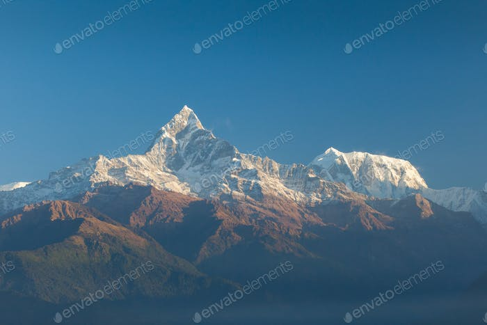 Machapuchare and Annapurna Range