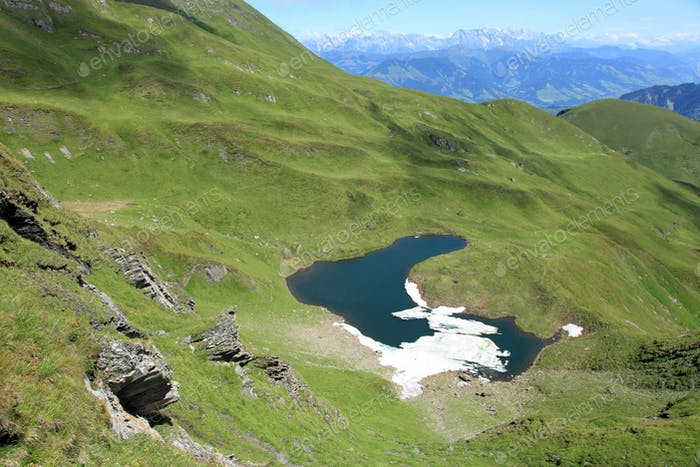 Brandlsee Lake in The Alps