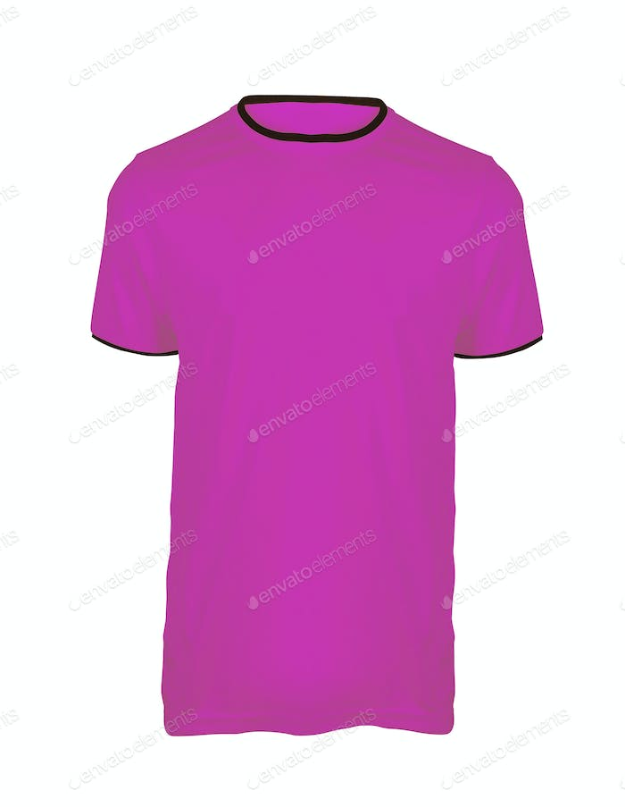 pink shirt isolated