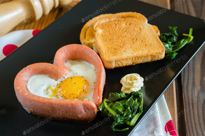 fried egg Valentine's day