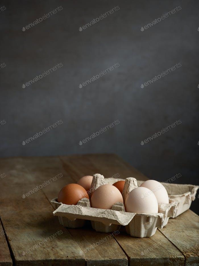 fresh natural organic eggs