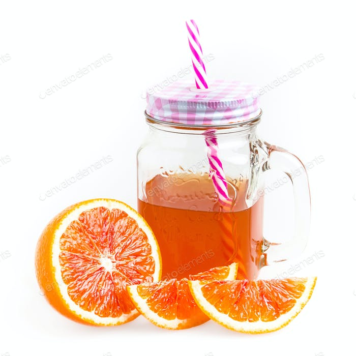 Jar of orange tea