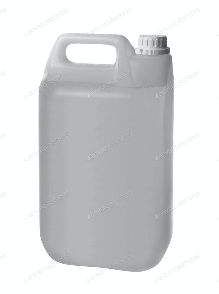Kunststoffkanister isoliert