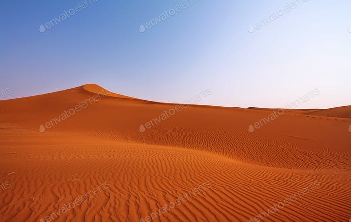 Landscape of dunes in Namib desert