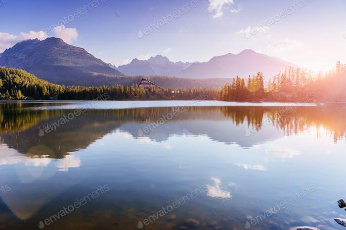 Strbske pleso See in der Hohen Tatra, Slowakei Europa