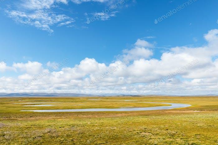 water sources and plateau wetlands landscape