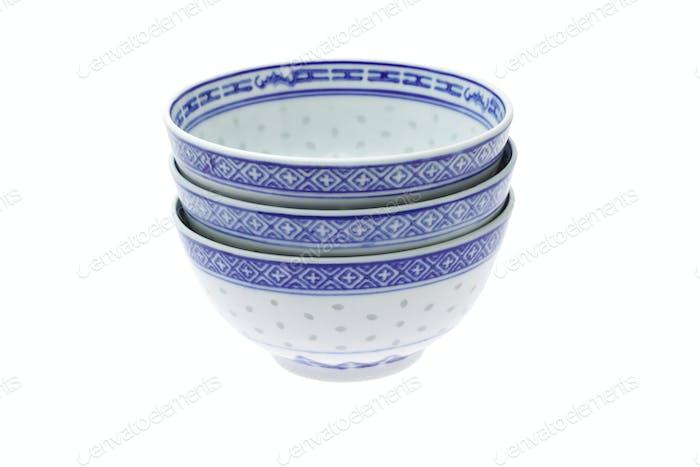 Traditionelle chinesische Reisschüsseln