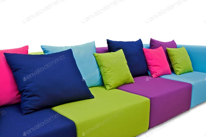 Outdoor Indoor Sofa in Many Colours with Water Resistant Pillows
