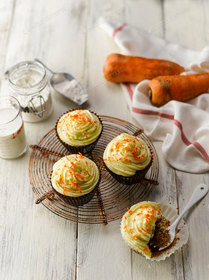 Carrot Cup Cake Top View