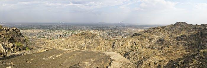 Juba, South Sudan, wide panoramic view