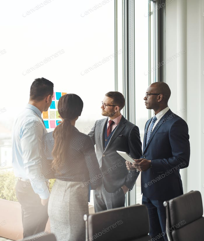 Multiracial business team having a meeting