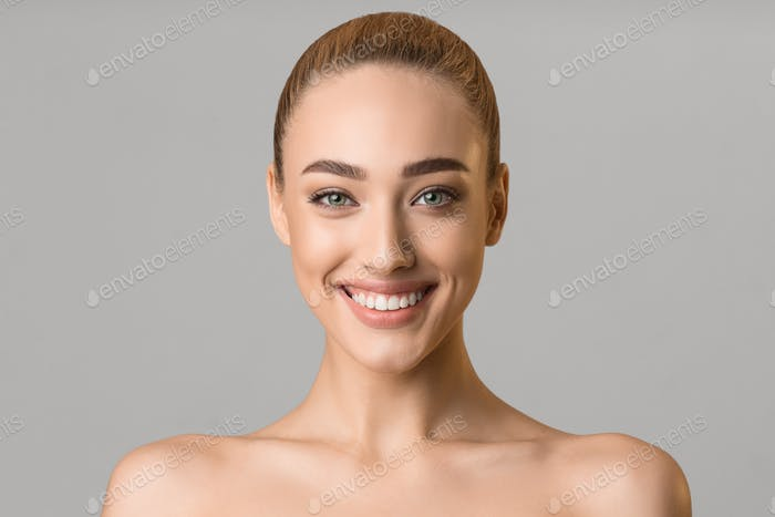 Beauty portrait. Beautiful woman with perfect smile