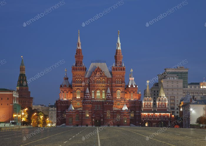 54629,Red Square and State History Museum, Moscow, Russia