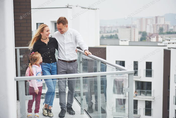 The young family chooses new housing