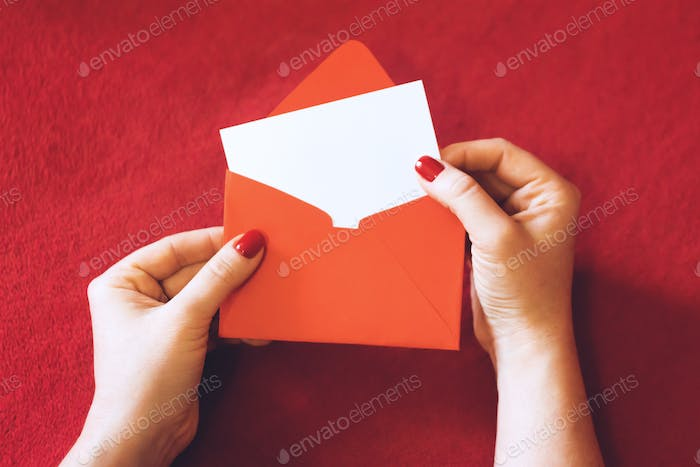 Valentines day greeting card, mockup