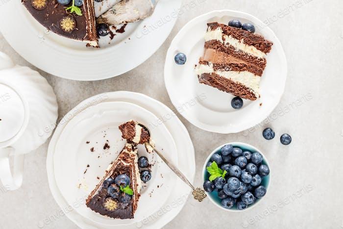 Dessert Menu Belgische Schokolade Schichtgateau