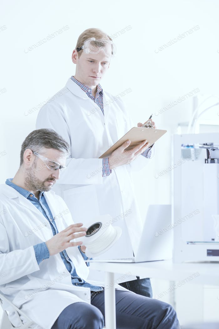 Laboratory with two scientists