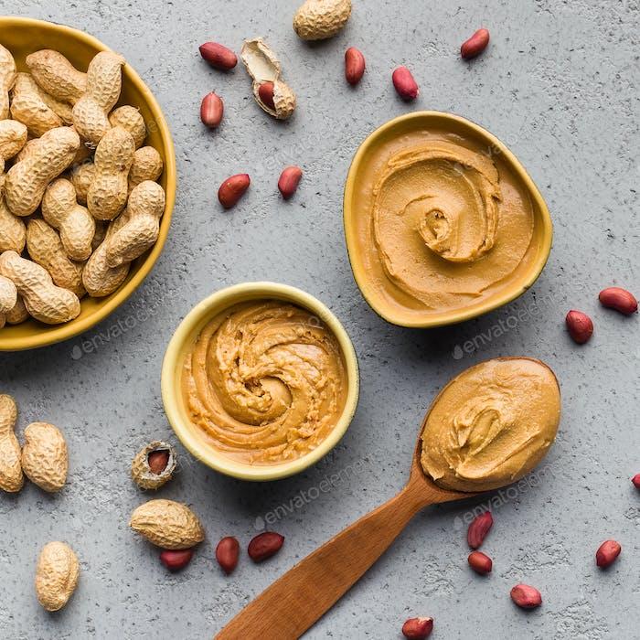 Artisan peanut butter concept