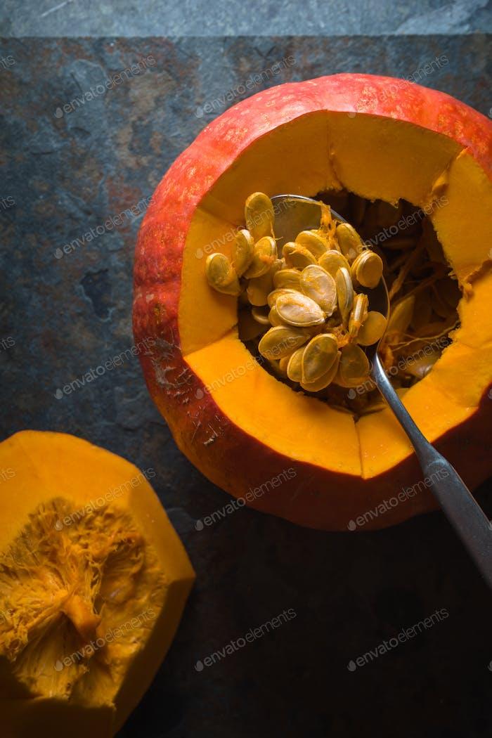 Kürbis, Samen für die Herstellung von Kürbissuppe