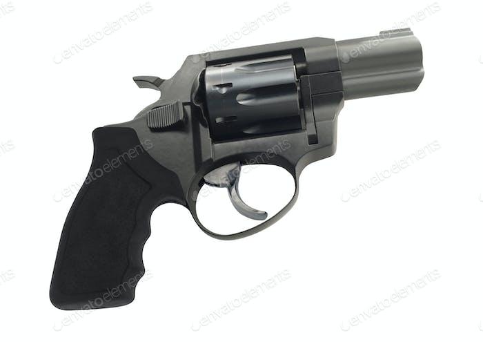 Revolver isoliert auf weißem Hintergrund