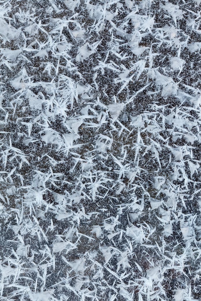 Eisige Schneeflocken
