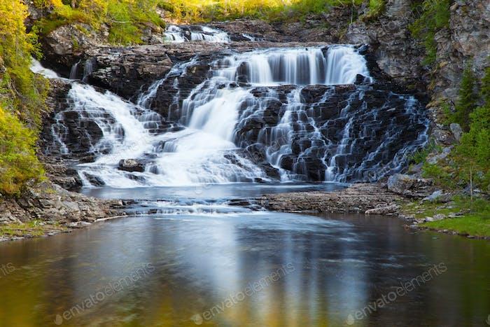 waterfall Kvernfossen in Tydal Norway