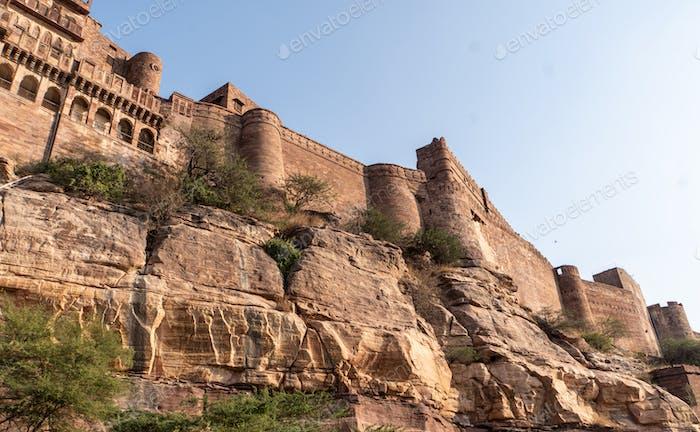 Red Fort Delhi is a red sandstone fort city built during the Mughal regime.