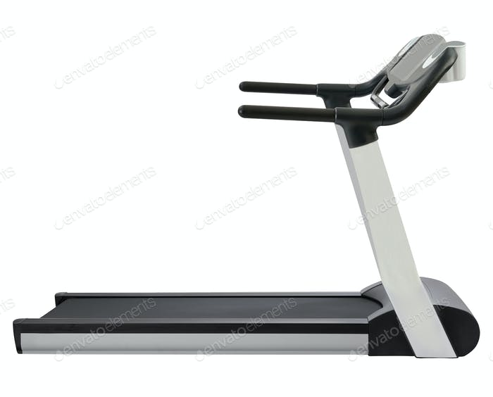 Treadmill isolated on white